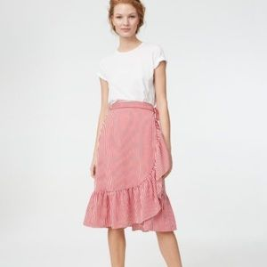 Club Monaco Stripe Wrap Skirt
